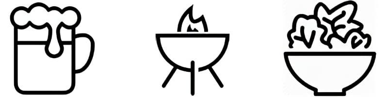 Piktogramme-Kulinarisches