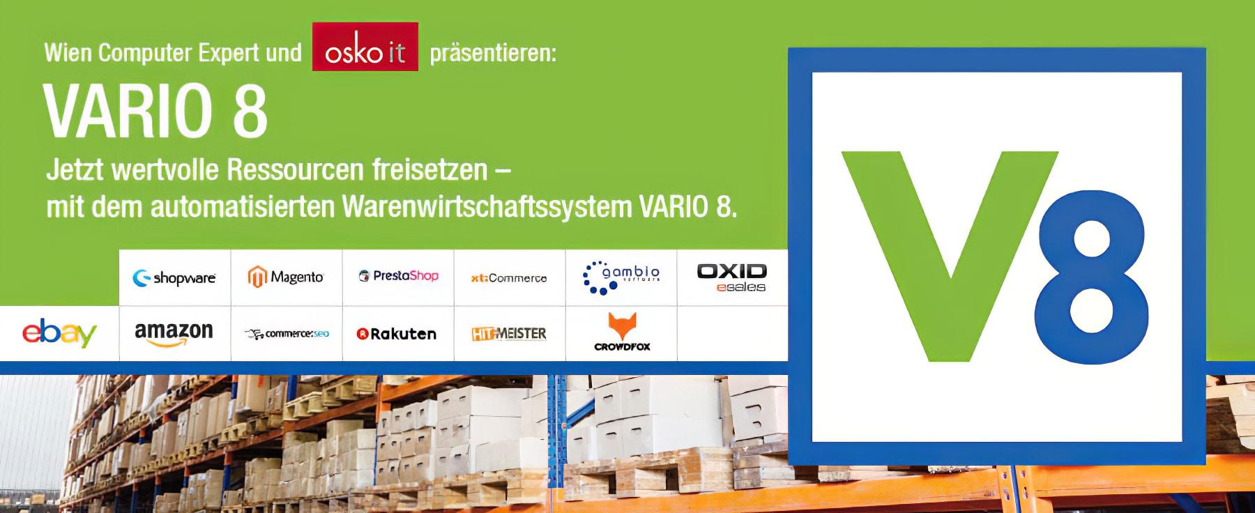 Vario 8 - automatisches Warenwirtschaftssystem