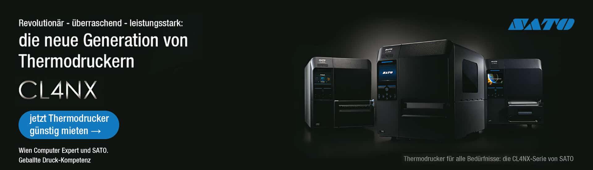 SATO CL4NX - Thermodrucker günstig mieten