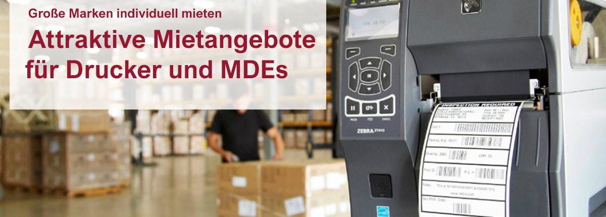Attraktive Mietangebote für Drucker und MDEs